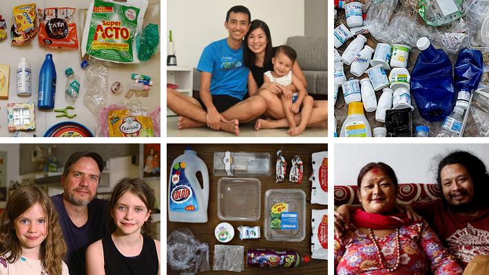 Galería: Familias de todo el mundo relatan cómo luchan día a día contra el plástico