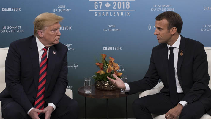 """Macron asegura que todos los países del G7 tienen """"voluntad"""" para llegar a un acuerdo tras diferencias con Trump"""