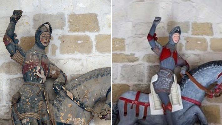 """El nuevo """"Ecce Homo"""": Parroquia tendrá que pagar por la reparación de la arruinada escultura de San Jorge"""