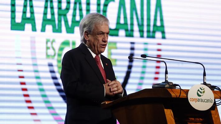 """Piñera: """"Los que hablan de sequía legislativa, partan por aprobar proyectos como la Ley Antiterrorista"""""""