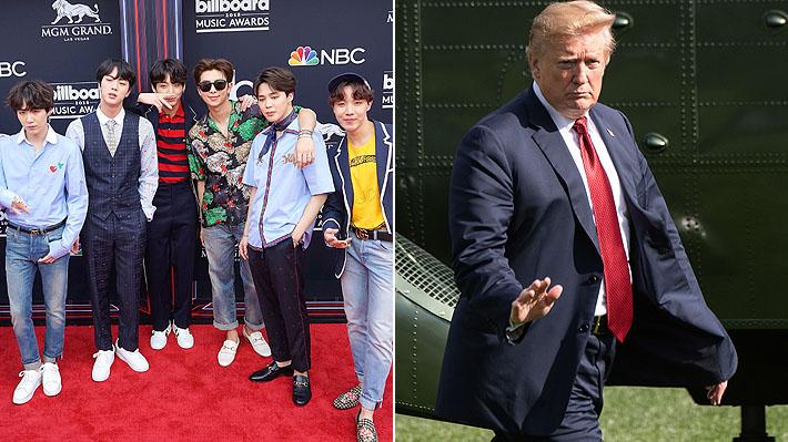 La banda coreana BTS y Donald Trump se destacan en la lista de las personas más influyentes de internet
