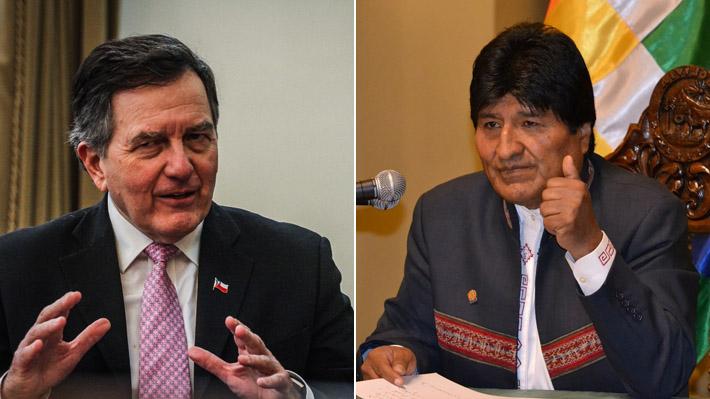 """Canciller Ampuero critica a Evo Morales por la """"metamorfosis en su postura hacia Chile"""""""