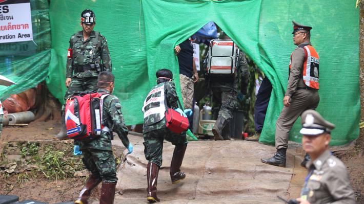 """Cómo ha sido el """"Día D"""" en el que se inició el rescate de los niños atrapados en una cueva en Tailandia"""