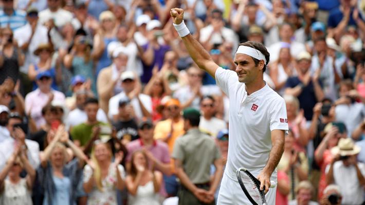 Federer sigue sin perder un set y ahora superó sin problemas a verdugo de Garín para avanzar a cuartos de Wimbledon