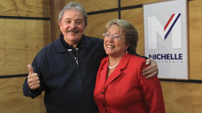 Bachelet firma declaración de apoyo a inscripción de candidatura presidencial de Lula da Silva