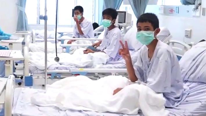 Galería: Difunden primeras fotografías de niños tailandeses tras rescate