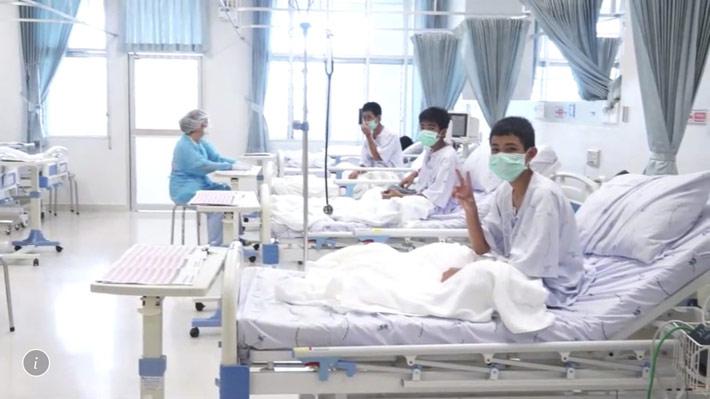 Tailandia difunde primeras imágenes de los niños rescatados e informa que cuatro de ellos serán dados de alta el domingo