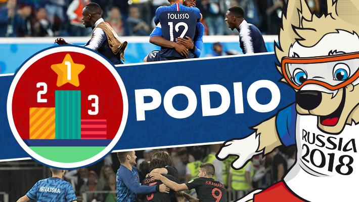 Croacia fue el que más remató y Mbappé el que más ocasiones creó: El podio de las semifinales de Rusia 2018