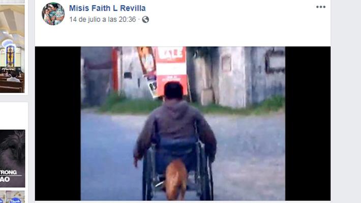 Video: Digong, el perro que conmueve ayudando a su dueño a movilizarse en silla de ruedas