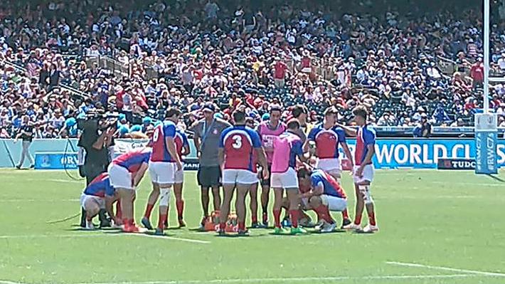 """Chile pierde de forma agónica ante Irlanda y deberá conformarse con jugar el """"Bowl"""" en el Mundial de Rugby seven"""