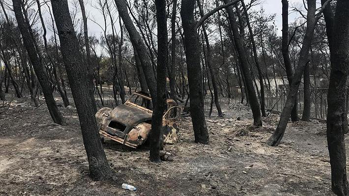 Dramática historia por incendio en Grecia: Hallan a 26 personas abrazadas y carbonizadas