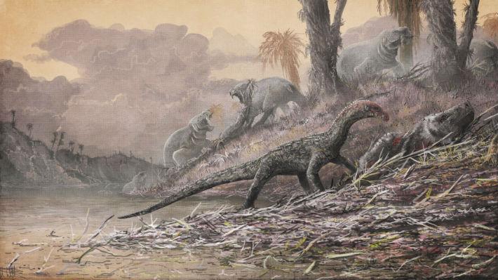 Los dinosaurios diplocoideos se encontraban en todo el supercontinente Pangea