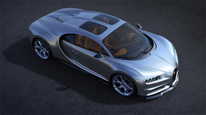 Bugatti presenta nueva versión del Chiron con techo de cristal