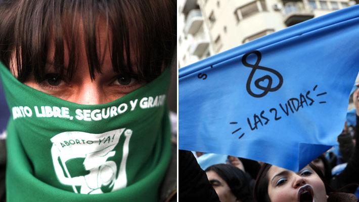"""Verde y celeste, colores de importación: La """"argentinización"""" del debate por el aborto en Chile"""