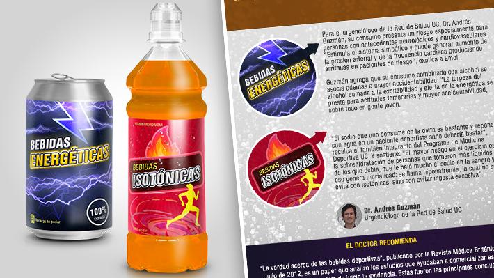 Bebidas energéticas e isotónicas en Chile: La verdad detrás de su composición y los riesgos que ocultan