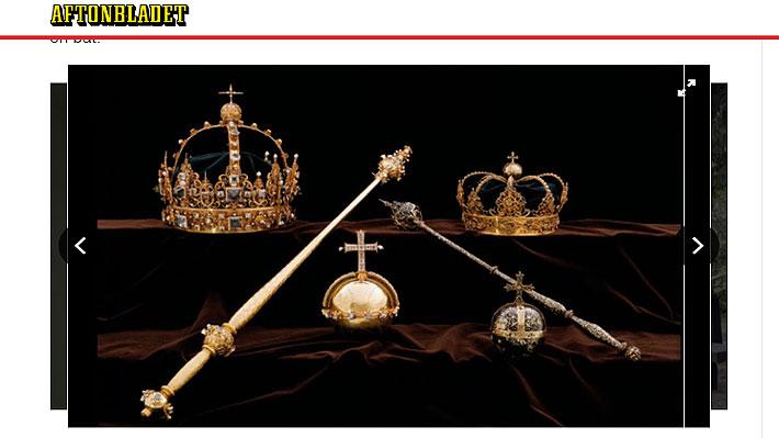 """Son objetos de """"interés nacional"""": Invaluables joyas de la Corona Sueca fueron robadas desde una catedral"""