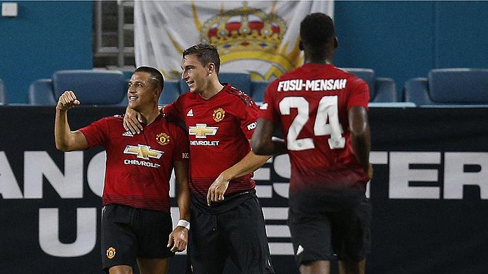 Alexis espectacular: Con un gol y una asistencia le da el triunfo al United sobre el Real Madrid