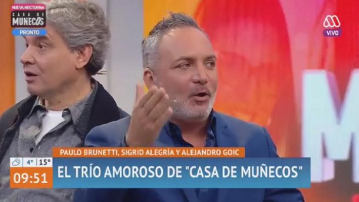 """Video: Actor Alejandro Goic se retira del estudio de """"Mucho Gusto"""" ante la llegada de Patricia Maldonado"""