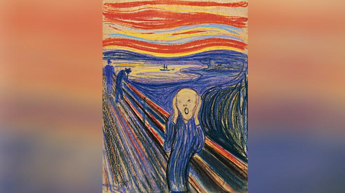 """""""El Grito"""": Fenómeno meteorológico explicaría el cielo rojizo en el famoso cuadro de Munch"""
