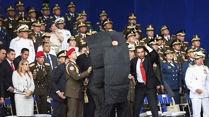 Las versiones contrapuestas sobre el incidente que obligó a evacuar a Maduro de un acto público