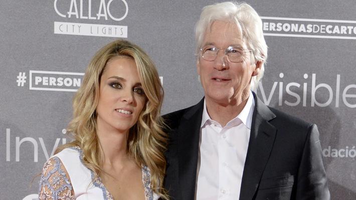 Richard Gere tendrá su primer hijo en común con Alejandra Silva, su esposa 33 años menor