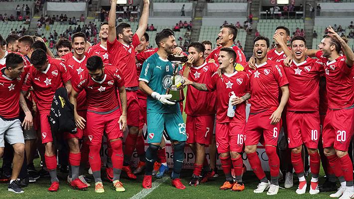 Con Francisco Silva y Pedro Pablo Hernández en cancha, Independiente se coronó campeón de la Suruga Bank