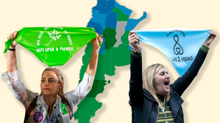 Más apoyo en el sur y fuerte rechazo en el norte: Los contrastes de la votación del aborto en Argentina