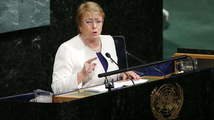 Asamblea General de la ONU ratifica a Michelle Bachelet como Alta Comisionada para los DD.HH.