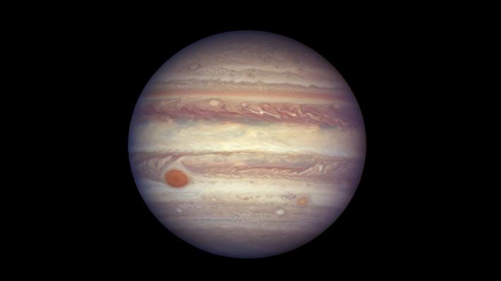 Los colores en Júpiter se deben a los flujos de aire en la atmósfera