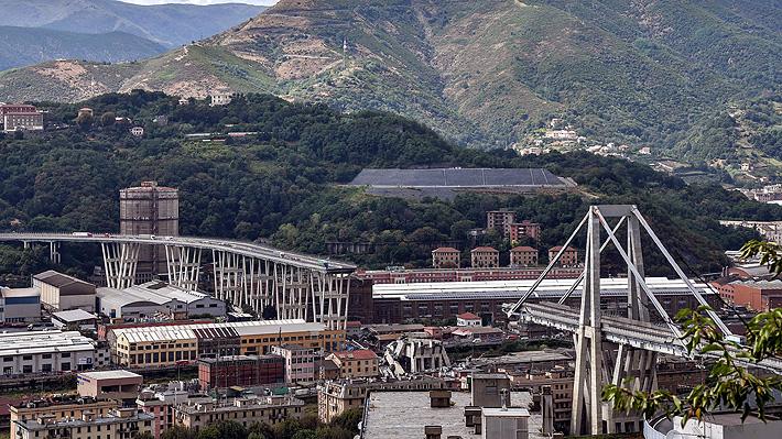 Gobierno italiano buscará a responsables tras el derrumbe de puente en Génova