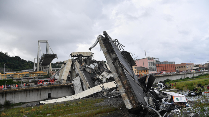 Concesionaria de puente derrumbado en Génova es el mayor operador de autopistas en Chile