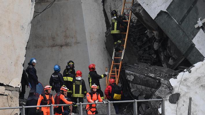 Hallan a las últimas víctimas del listado de desaparecidos en el derrumbe de puente en Génova