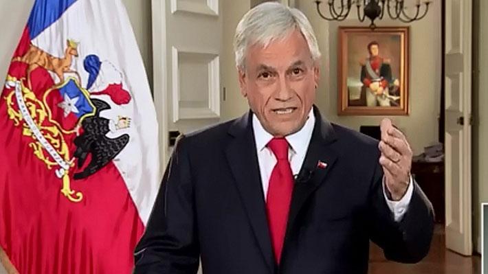 Piñera presenta por cadena nacional los ejes de la reforma tributaria