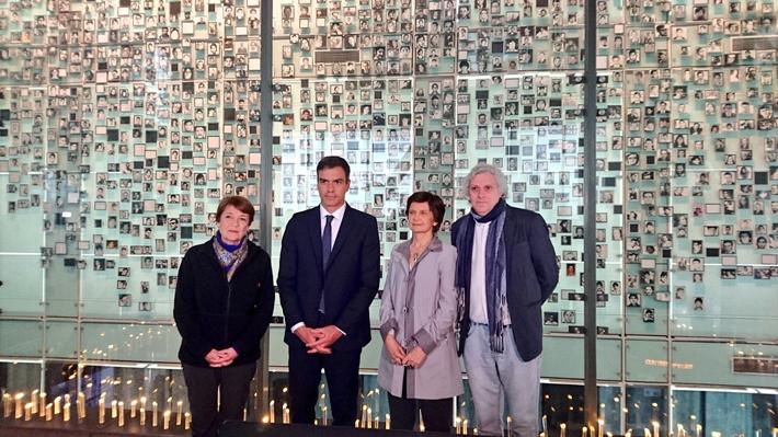 Ministra de las Culturas visita el Museo de la Memoria junto a Presidente español