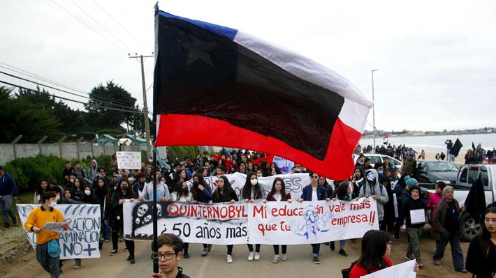 El grito de los estudiantes: La pieza clave de la oposición ciudadana en Quintero y Puchuncaví