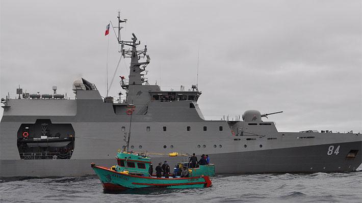 Armada captura embarcación peruana que pescaba en Zona Económica Exclusiva Nacional