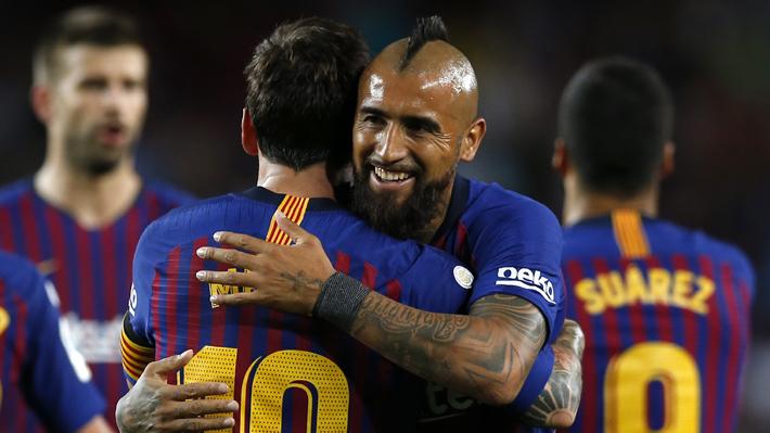 """Messi alaba el """"estilo"""" de juego de Vidal y explica por qué es importante para el Barcelona"""