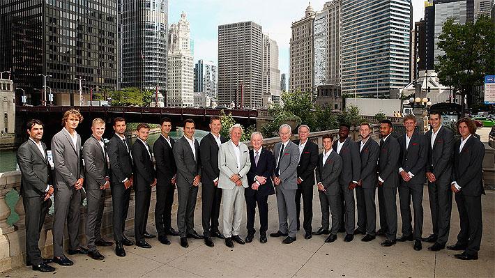 Nicolás Jarry posó con estrellas del tenis mundial: Las imágenes de la presentación de la Laver Cup