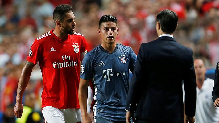 "El controversial gesto de ""venganza"" de James Rodríguez que ""indignó"" a la hinchada del Benfica en Champions"