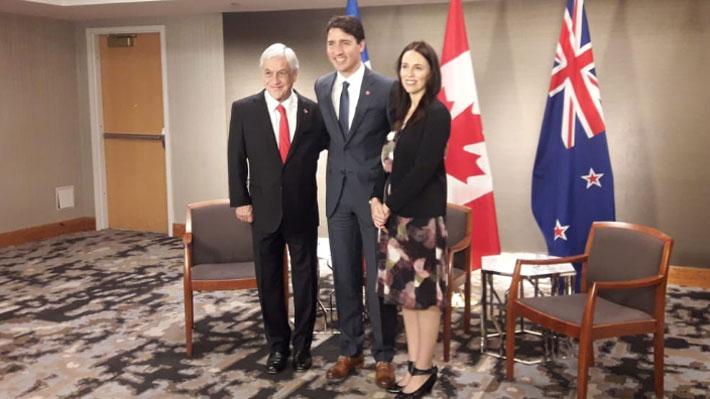 Piñera se reúne con líderes de Canadá y Nueva Zelanda y analizan acercamientos de ambos con la Alianza del Pacífico