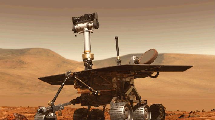 """Una sonda de la NASA en Marte fotografió a un """"dormido"""" Opportunity"""