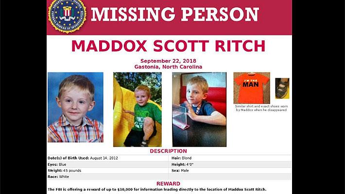 FBI ofreció recompensa: Niño de seis años con autismo lleva cuatro días desaparecido en EE.UU.