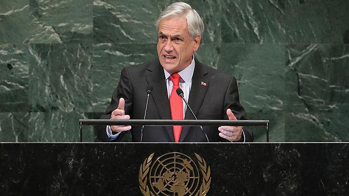 Piñera aborda crisis ambiental en Quintero, critica a Maduro y evita responder a Evo en discurso ante la ONU