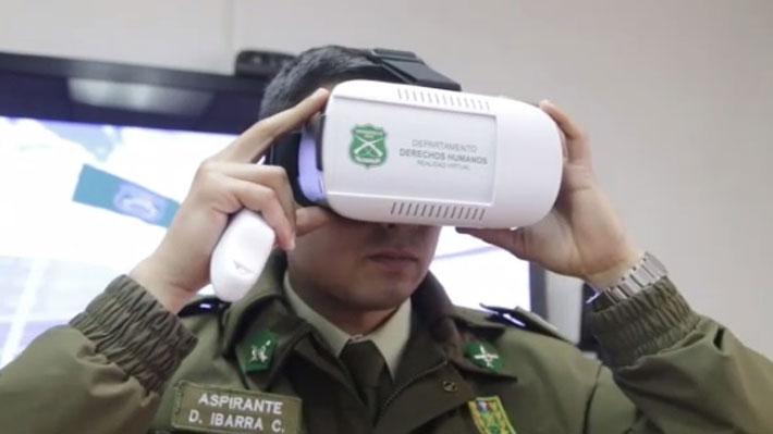 Modernización en Carabineros: Incorporan programa de entrenamiento basado en realidad virtual