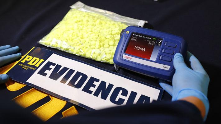Explosivo aumento en decomiso de drogas sintéticas: Dosis incautadas crecieron 9.223% en nueve años