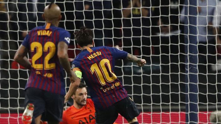 Partidazo en Wembley: Barcelona con Vidal en el final derrotó 4-2 al Tottenham y es líder de su grupo en Champions