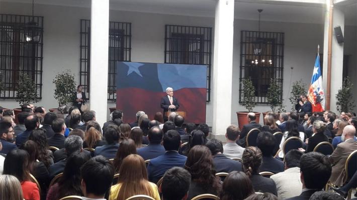 """Presidente Piñera valora triunfo del No en acto por plebiscito: """"El 5 de octubre fue un día luminoso"""""""