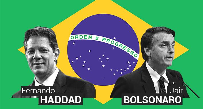 Jair Bolsonaro vs. Fernando Haddad: El frente a frente de los dos que van a segunda vuelta en Brasil