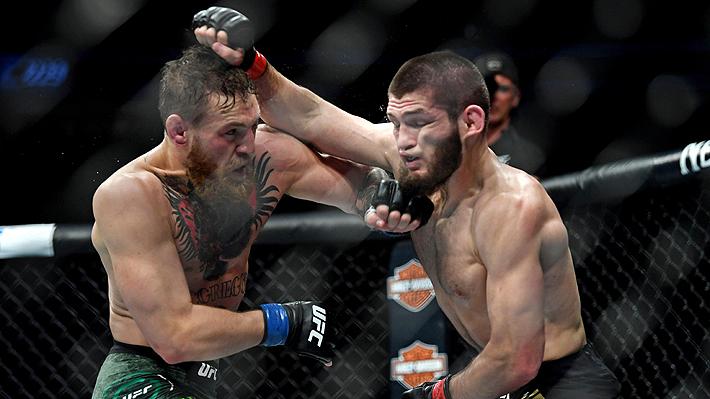 Video: Los golpes más brutales de la pelea Khabib-McGregor y las caóticas imágenes de la trifulca que se armó después