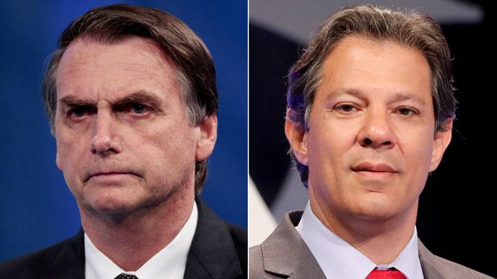 Sondeos a boca de urna: Bolsonaro llega a 46% y Haddad lo sigue con 28... Hay segunda vuelta en Brasil